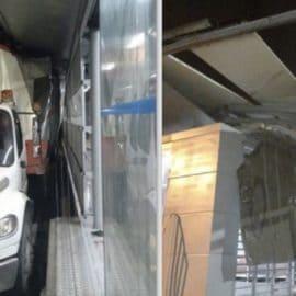 Imprudencia de conductor de un camión provocó daños en estación del MÍO