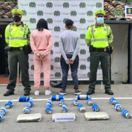 Cárcel para dos personas que transportaban 14 kilos de marihuana