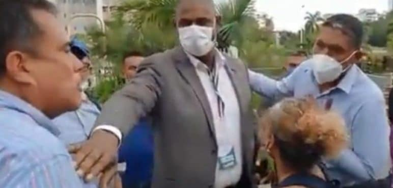 Tremendo agarrón entre abogado y el Secretario de Paz de Cali durante reunión con carretilleros