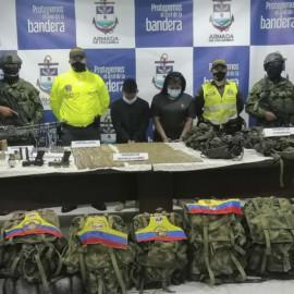 Cárcel para pareja que transportaba material de guerra para Grupo Residual