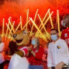 El espectáculo de luces en el Lago Calima que avisa la llegada de los Juegos Panamericanos