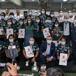 Jugadoras del Deportivo Cali fueron condecoradas por la Alcaldía