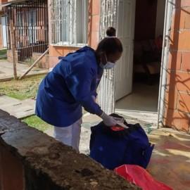 Vacunación contra el covid-19 llegó hasta los hogares de los caleños