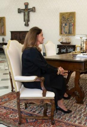 Marta Lucía Ramírez habló con el Papa y la monja Gloria Narváez en el Vaticano