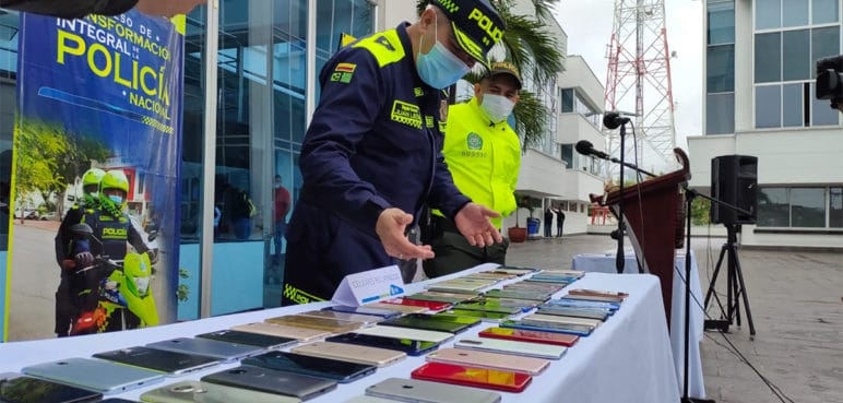 Policía recuperó 127 celulares que habían sido hurtados a ciudadanos en Cali