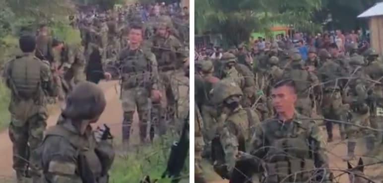 Sembradores de coca retienen a 180 soldados en el Catatumbo