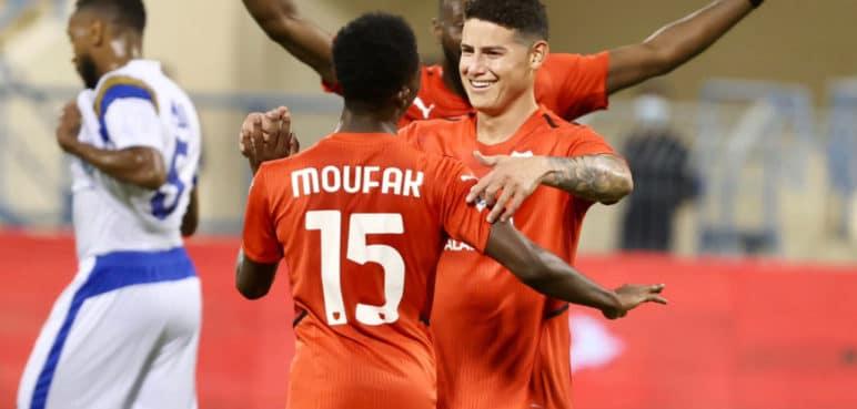 Vea el primer gol que anotó James Rodríguez con su equipo Al Rayyan, de Catar